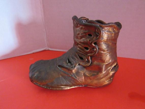 Bronzed Baby Shoe 1897