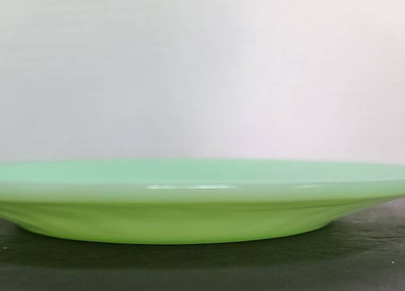 Fire King jadeite Jane Ray dinner plate