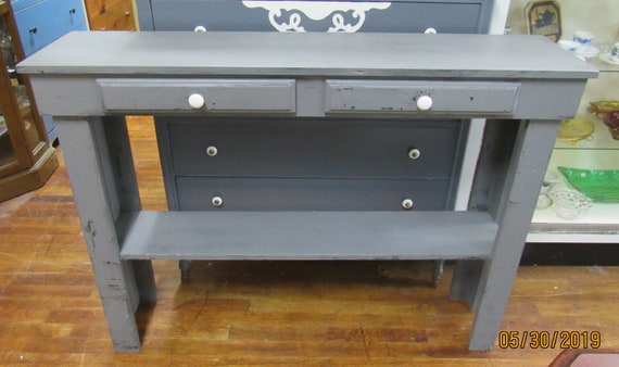 Gray sofa or console table