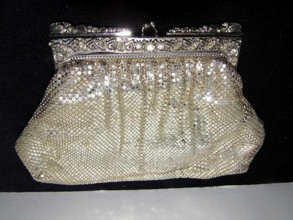 Silver Mesh Whiting and Davis evening bag