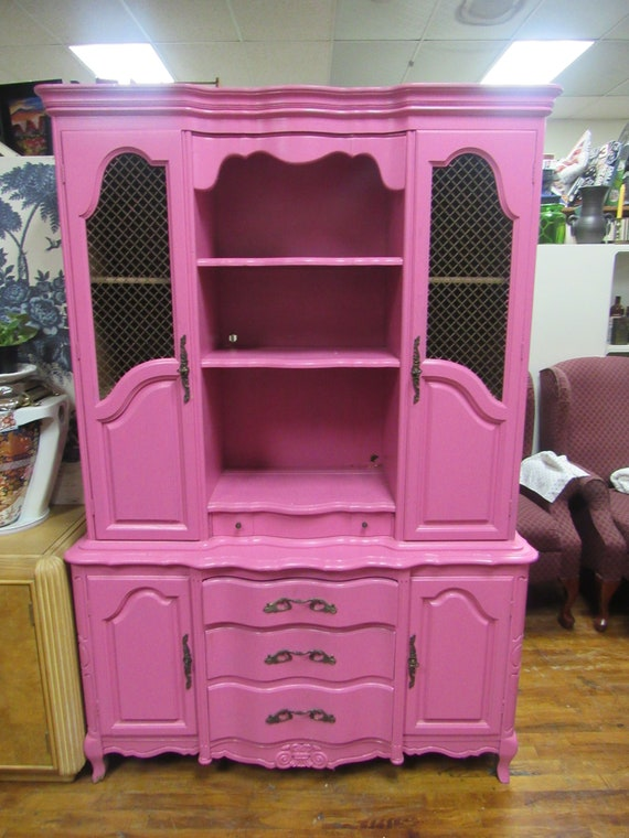 Hot pink cabinet