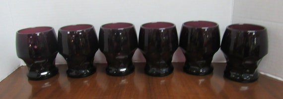 Purple water glasses
