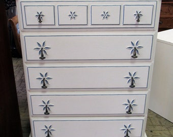 Tall white dresser by Stanley