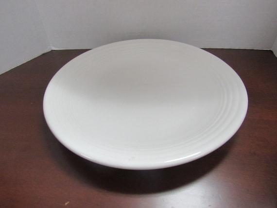 White Fiesta Round Chop Plate Serving Platter