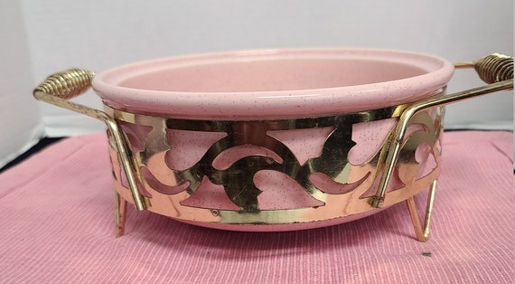 Bauer speckled pink casserole