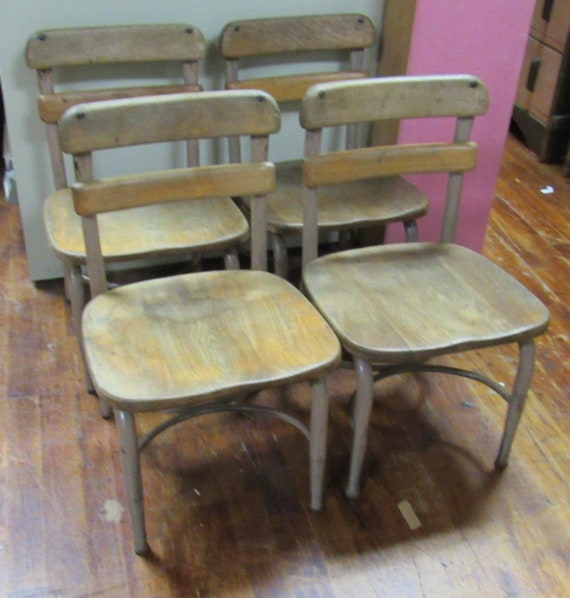 Heywood Wakefield Children's school chairs original condition