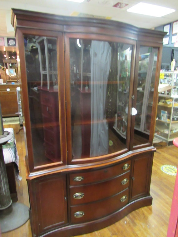 Mahogany China Cabinet by Bassett