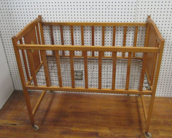 Antique baby crib
