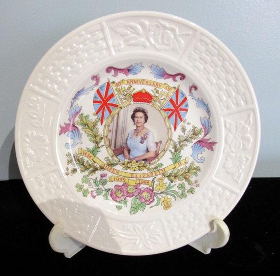 Queen Elizabeth 40th Anniversary Plate