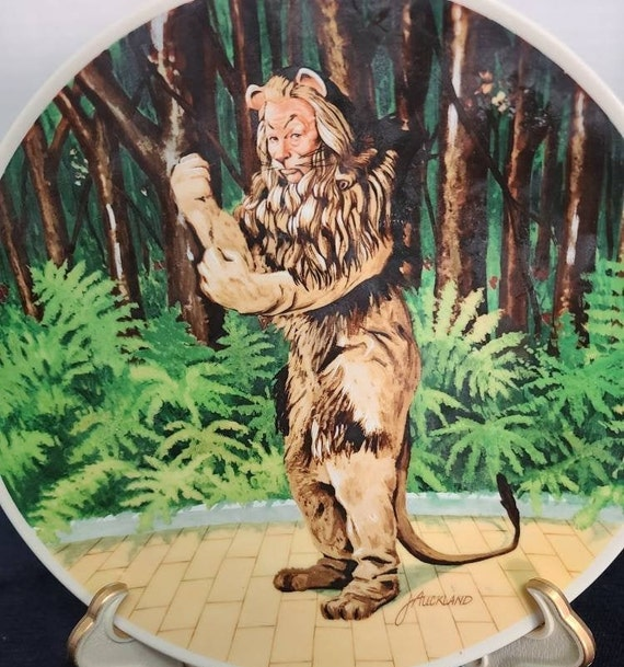 Wizard of Oz Plate Cowardly Lion