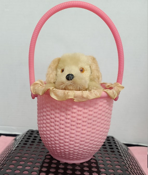 Wind Up Puppy in Basket
