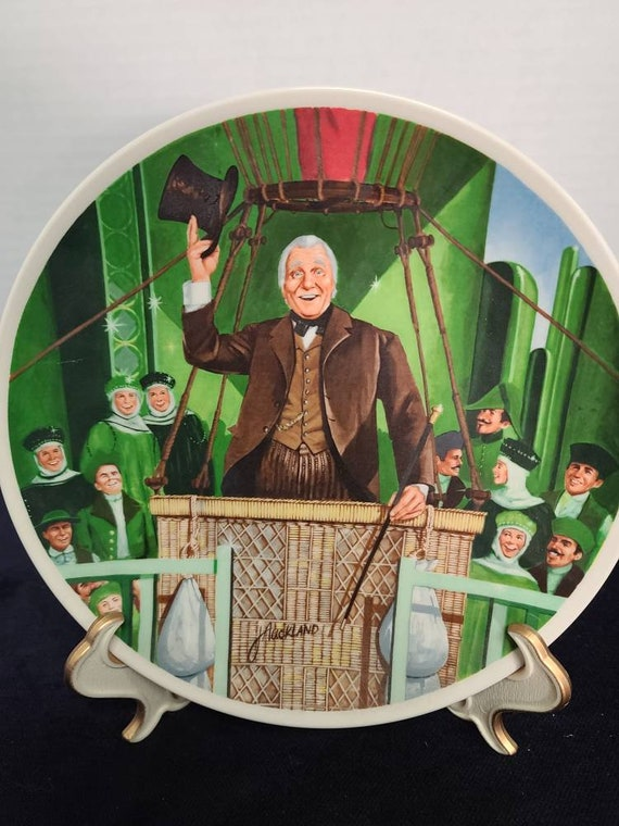 """Wizard of Oz collector plate """"The Wonderful Wizard if Oz """""""