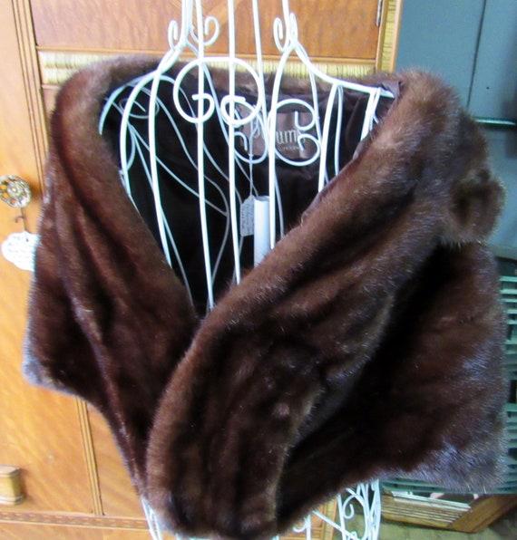 Vintage Mink Fur Bolero Shrug Jacket