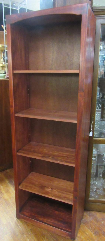 Tall wood bookshelf