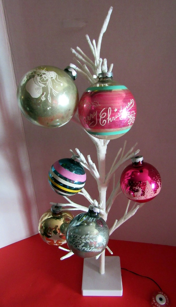 Six  Vintage Christmas Ornaments
