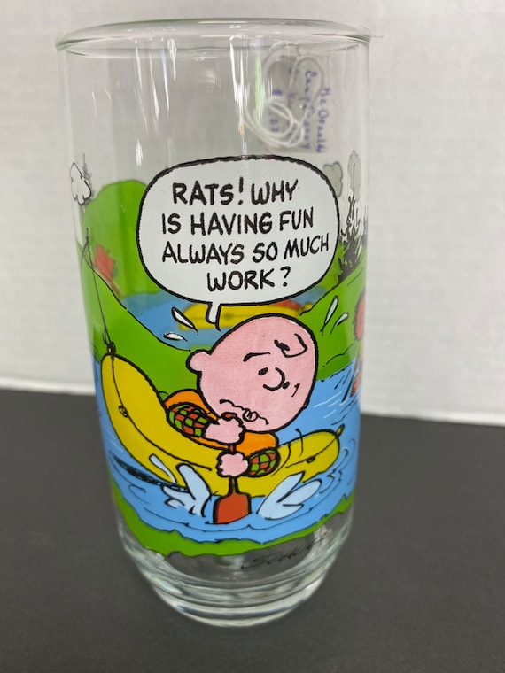 1960s Snoopy Mc Donald's Glass Cup.