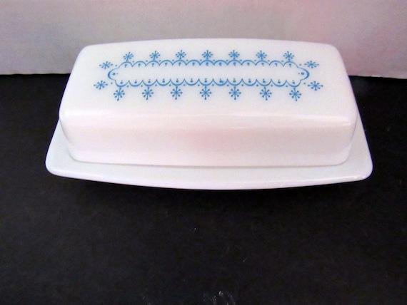 Pyrex butter dish Snowflake Gardland