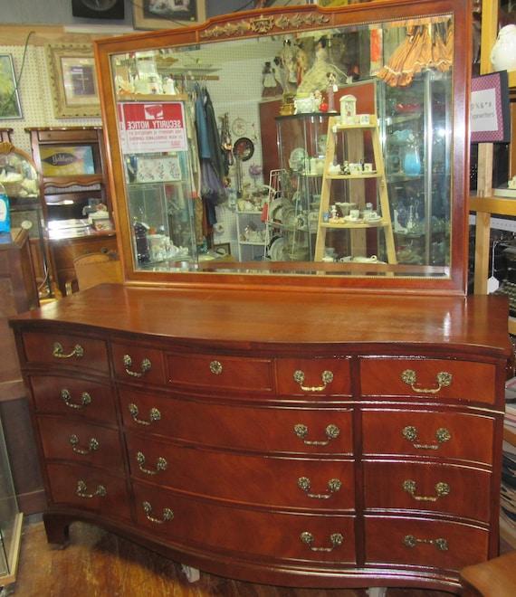 Thomasville Mahogany Dresser with Mirror