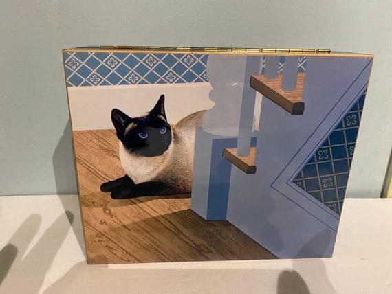 Jewelry Box Siamese Cat design, never used