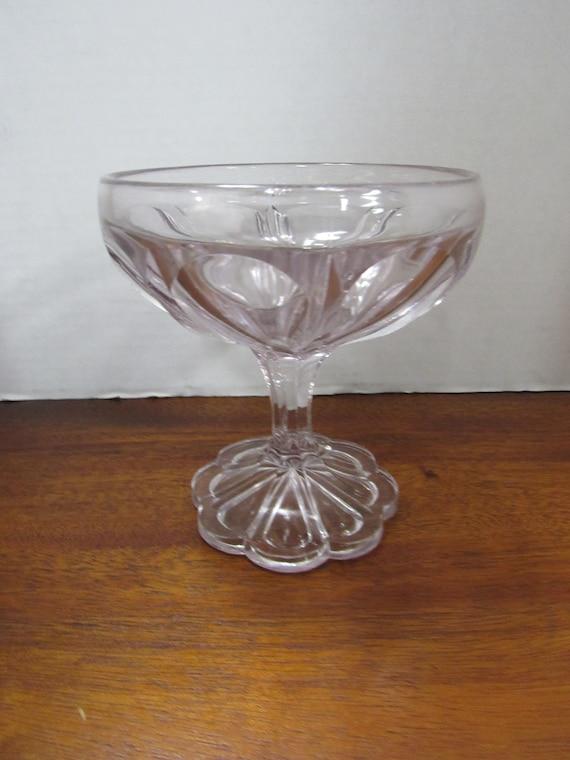 Lavender Glass compote dish