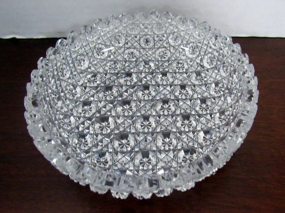 Brilliant cut glass dish