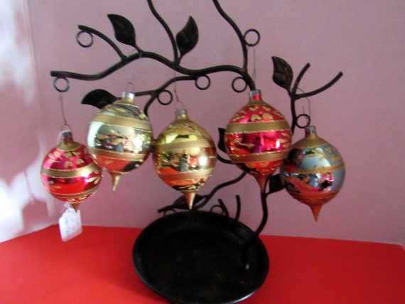 Five Vintage Christmas Ornaments