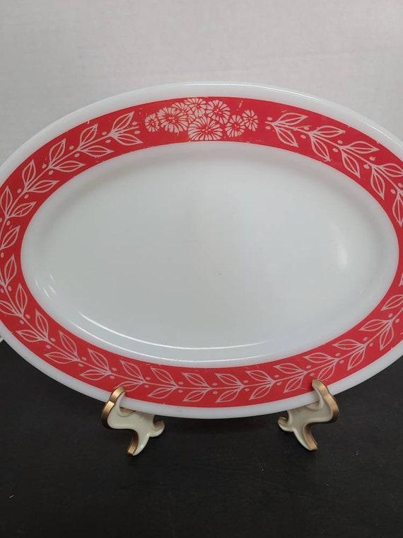 Pyrex Revel pattern oval platter