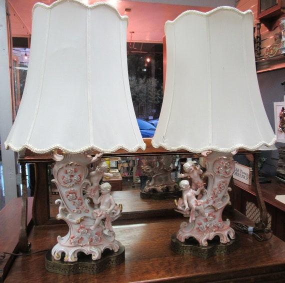 Pair of Capodimonte Lamps