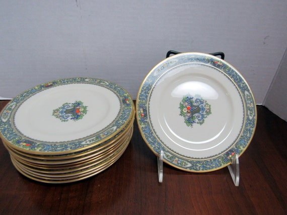 "Ten Lenox Autumn 6.5"" plates"