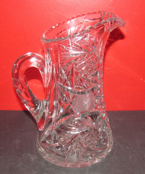Pressed Glass Water Pitcher