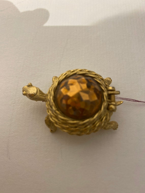 Turtle brooch that opens