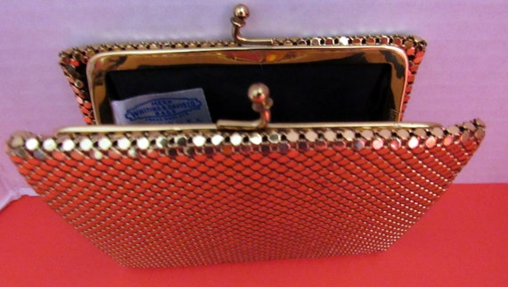 Whiting and Davis gold mesh wallet