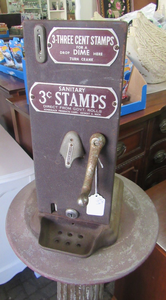 Schermack 3 cent stamp machine