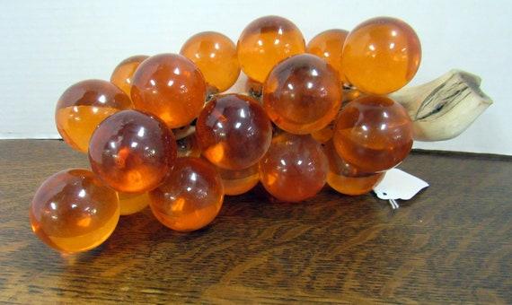 Orange lucite grape cluster