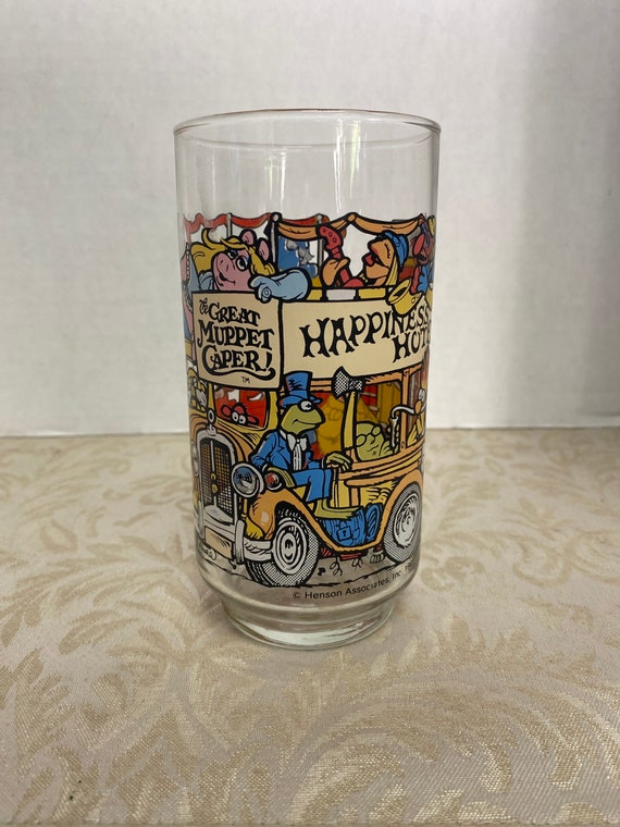 1981 The Great Muppet Caper! McDonald Collectable Glass Cup