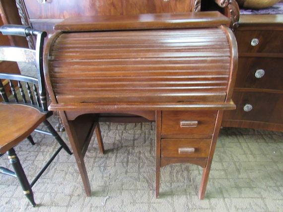 Child size roll top desk