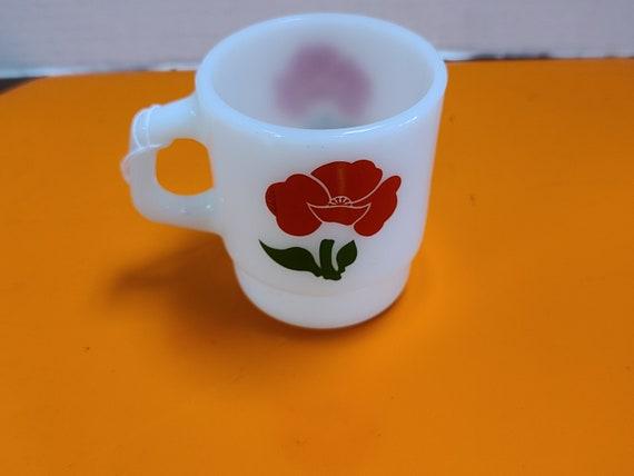 Poppy Fire King mug