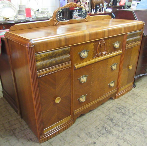 Art Deco Waterfall Buffet or sideboard