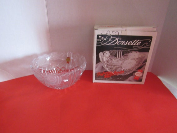 Dorsette Lead Crystal Bowl in original box