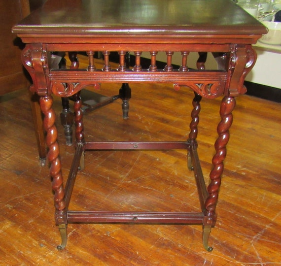Antique mahogany lamp table