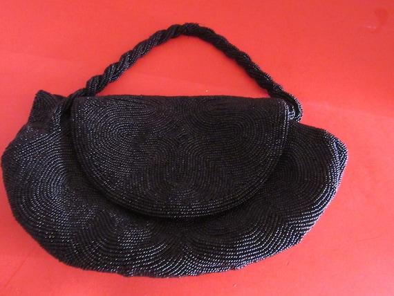 Black beaded purse by Joseph