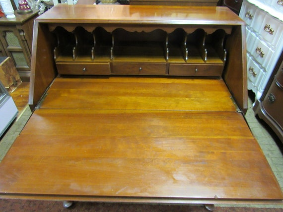 Mahogany Dresser Secretary Desk with fall front writing surface