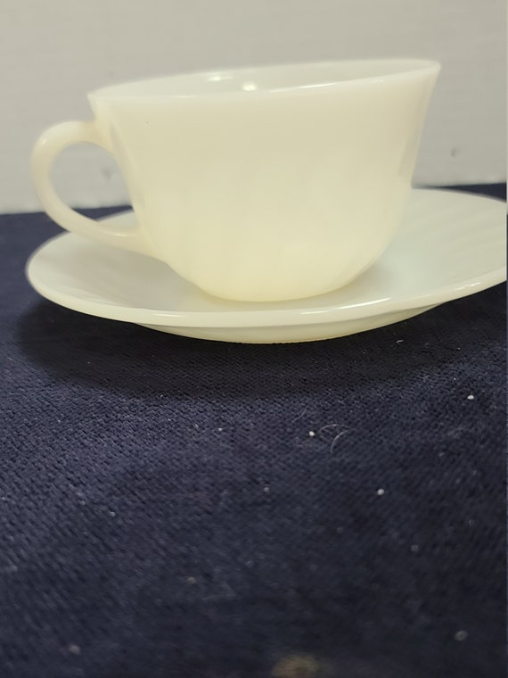 Fire King Ivory cup and saucer