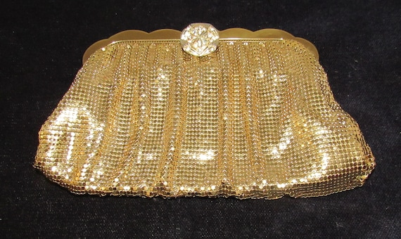 Gold Mesh Whiting and Davis evening bag
