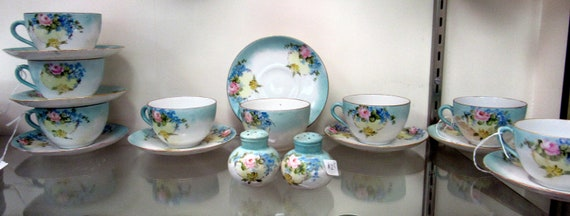 Czechoslovakia china cups and saucers