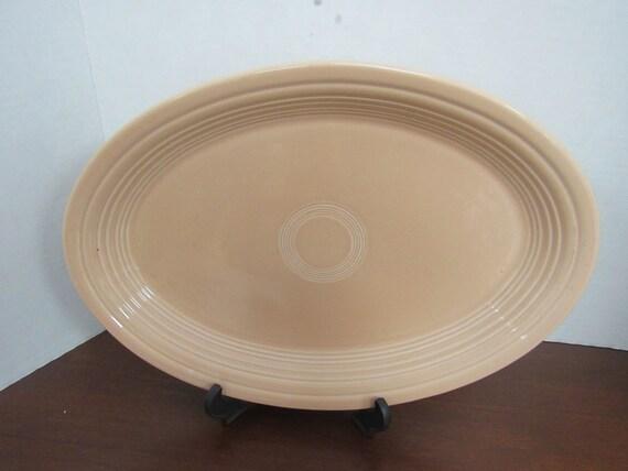 Fiesta Oval Platter Peach