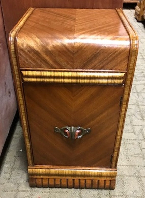 Art Deco Waterfall Nightstand or end table