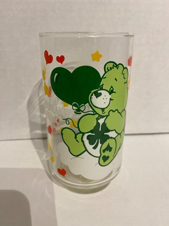Care Bear Pizza Hut glass Good Luck Bear