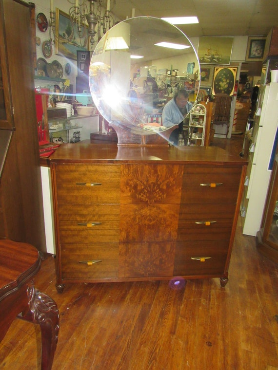 Art Deco Dresser with Mirror with hidden compartments