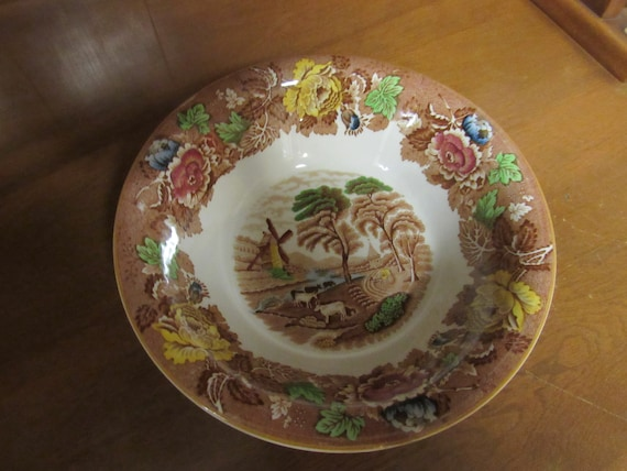Wood's Ware English Scenery serving bowl